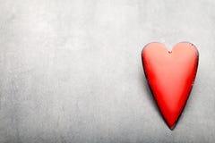 Coeurs du jour de Valentine Carte greating de Saint Valentin Images libres de droits