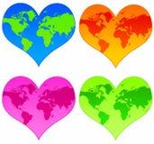 Coeurs du monde Photos libres de droits
