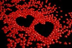 Coeurs effectués à partir de la sucrerie photographie stock