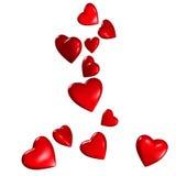 Coeurs en baisse illustration libre de droits