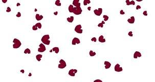 Coeurs en baisse rouges clips vidéos