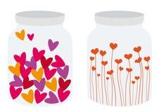 Coeurs en boîte illustration de vecteur