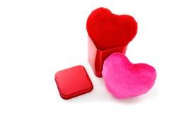 Coeurs en boîte Photo stock