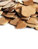 Coeurs en bois Photo libre de droits