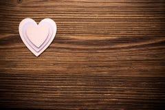 Coeurs en bois. photographie stock libre de droits
