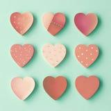 Coeurs en bois Image stock
