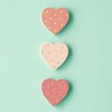 Coeurs en bois Images libres de droits