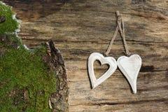 Coeurs en bois Image libre de droits