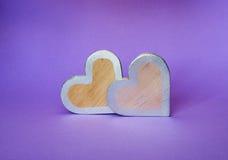 Coeurs en bois photos libres de droits