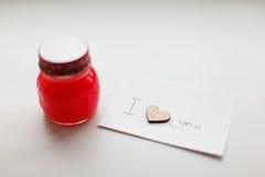 Coeurs en bois, confiture photo libre de droits