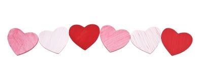 Coeurs en bois peints photo stock