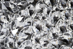 Coeurs en cristal de pétillement Photo libre de droits