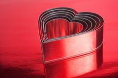Coeurs en métal formés Image libre de droits