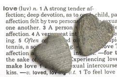 Coeurs en pierre Images stock