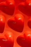 Coeurs en plastique Images stock