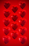 Coeurs en plastique Photo stock