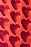 Coeurs en plastique Photos libres de droits