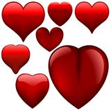 Coeurs en verre Photo libre de droits