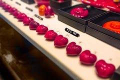 Coeurs en verre Photographie stock