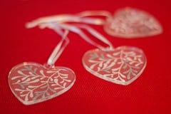 Coeurs en verre Image stock