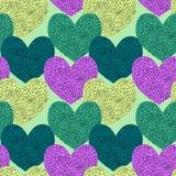 Coeurs en verre brisés sans joint Images stock