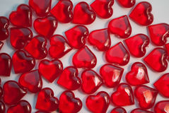 Coeurs en verre, symbole de l'amour, Images libres de droits