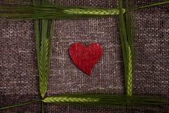 Coeurs et épis de blé abstraits Photo libre de droits