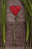 Coeurs et épis de blé abstraits Images libres de droits