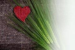 Coeurs et épis de blé abstraits Photos libres de droits