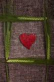 Coeurs et épis de blé abstraits Image stock