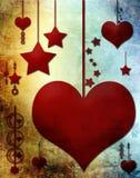 Coeurs et étoiles Image libre de droits