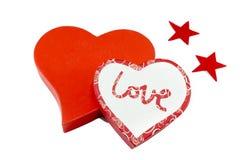 Coeurs et étoiles d'isolement sur le blanc Photo libre de droits