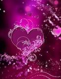 Coeurs et abrégé sur renversants remous d'étincelles Images stock