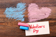 Coeurs et carte de voeux colorés Photo libre de droits