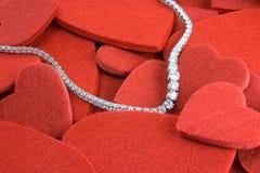 Coeurs et diamants Photographie stock