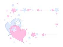 Coeurs et fleurs illustration stock