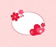 Coeurs et fleurs illustration libre de droits