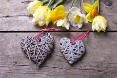 Coeurs et fleurs Photographie stock