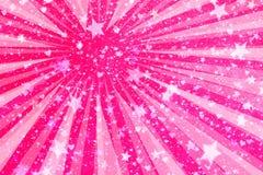 Coeurs et fond d'étoiles Photos libres de droits