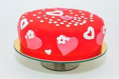 Coeurs et gâteau de fleurs Photo libre de droits