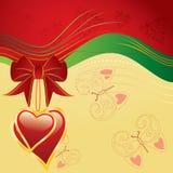 Coeurs et guindineau Photos libres de droits