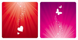 Coeurs et guindineaux Photo stock