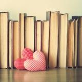 Coeurs et livres de coton Image libre de droits