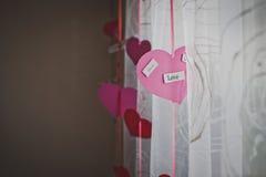 Coeurs et rideaux Image stock