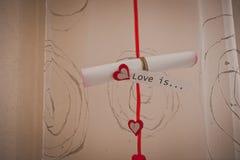 Coeurs et rideaux Coeurs et rideaux Photographie stock