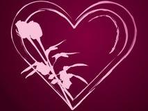 Coeurs et roses Photos libres de droits