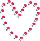 Coeurs et roses Photos stock