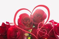 Coeurs et roses image libre de droits