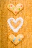 Coeurs et sucre différents Photos libres de droits