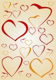 Coeurs faits au hasard Images libres de droits